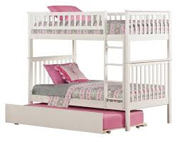 White Bunk Bed With Trundle Woodland Bunk Bed With Trundle White