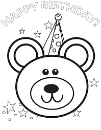 marvellous birthday cake coloring page according unique article