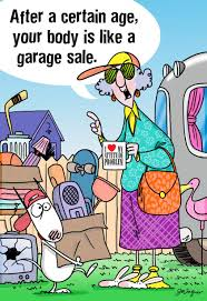 maxine aging is like a garage sale funny birthday card greeting