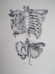 skeleton love and flowers tattoo drawing in 2017 real photo