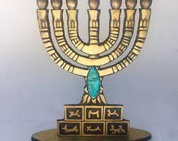 menorah 7 branch 7 candle menorah etsy