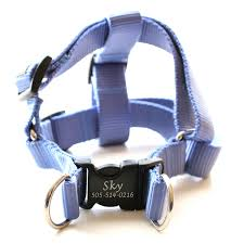 laser engraved personalized webbing harness 21 colors