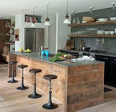 kitchen glamorous modern rustic kitchen island design with