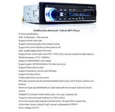 jsd 520 bluetooth car audio stereo mp3 player radio 18 19
