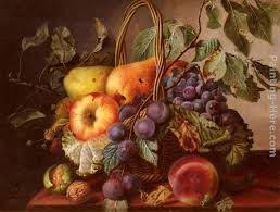 basket of fruit virginie de sartorius a still with a basket of fruit painting