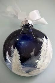 christmas ornaments unique mano con adornos de cristal pintado navidad