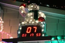electronic countdown clock decore
