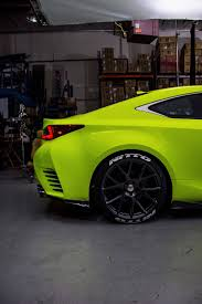 custom lexus rc lexus rc f sport in yellow fluorescent u2013 orafol vehicle wraps