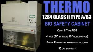 thermo fisher biosafety cabinet thermo 1284 bio safety cab 0870b youtube