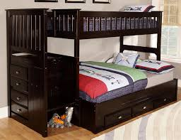 Captivating Full Bunk Beds With Stairs Huntington Twin Over Full - Stairway bunk bed twin over full
