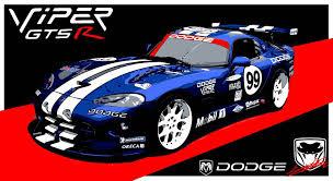 Dodge Viper Gts - dodge viper gts r tableau peinture voiture de course américaine