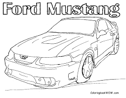 mustang coloring page getcoloringpages com