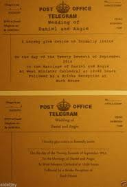 Telegram Wedding Invitation From Home Bargains 79p For 250 Wedding Ideas Pinterest