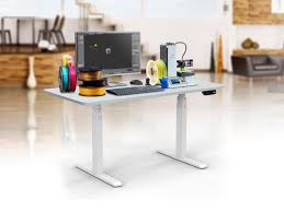 Electronic Height Adjustable Desk by Sit Stand Dual Motor Height Adjustable Desk Frame Electric White