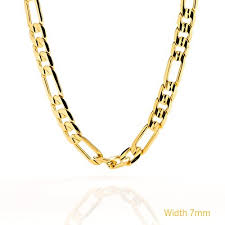 figaro gold necklace images 7mm large figaro gold chain bq zct8 bzsy figaro chains jpg