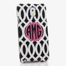 name style design bling cases personalized monogram name custom made crystals black