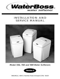water boss 900 user manual 32 pages also for 550 700