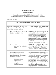curriculum plan for british literature chs phrase english