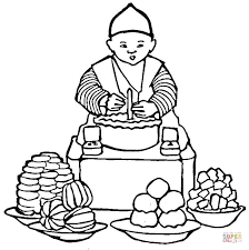 korean food coloring free printable coloring pages