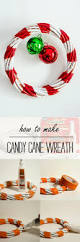 thanksgiving and christmas crafts candy cane wreath