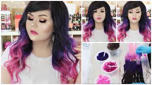 vp extensions how i dyed my hair extensions purple to pink ombre vp fashion