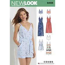 pattern review new look 6184 new look 6493 misses jumpsuit and dress in two lengths with