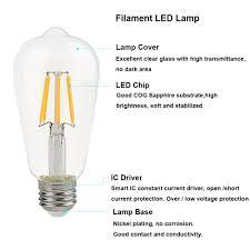 la farah edison led bulb 6w non dimmable 6 pack e26 60w edison