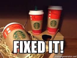 Red Solo Cup Meme - fixed it starbucks red holiday cup controversy know your meme