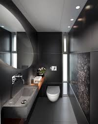 bathroom design ideas small small bathroom with black wall color and rectangle sink with oval