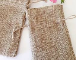 small burlap bags small fabric pouch etsy