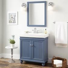 bathrooms design vanity cabinet sink blue mirror bathroom lander
