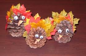 pinecone turkey family crafts