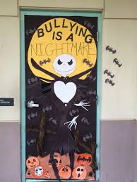 bullying door decoration halloween pumpkin theme pinterest