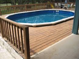 above ground pool patio ideas round designs