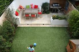 Concrete Backyard Design Lawn U0026 Garden Amazing Small Garden Backyard Design Ideas With