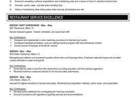 resume banquet resume sample wonderful server resume examples