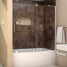 Glass Shower Doors With Tub by Dreamline Mirage X 56 In To 60 In X 58 In Semi Frameless