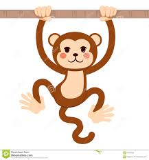 baby monkey hanging from a tree branch stock photo image 49684522
