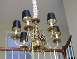 Painting Brass Chandelier Old Brass Chandelier Makeover After In My Own Style