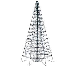 pre lit led 5 fold flat outdoor tree by lori greiner