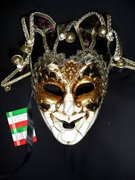 venetian jester mask venetian fabulous black gold jester mask with bells