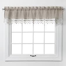 Curtain Band Amazon Com Renaissance Home Fashion Lillian Valance With Macrame