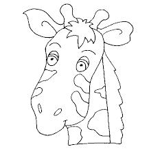 imagenes de jirafas bebes animadas para colorear dibujo de cara de jirafa para colorear dibujos net