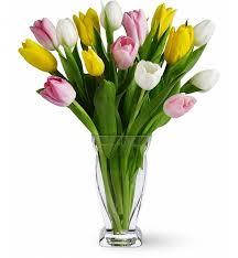 tulip bouquets tulip treasure bouquet flower bouquets a delightful trio