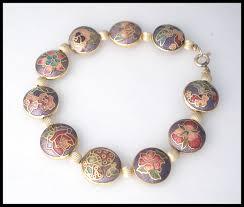 flowers with butterfly necklace images Bracelets jewelry cloisonne vintage bracelet purple flowers rose jpg