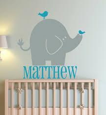 Custom Nursery Wall Decals elephant wall decals for nusery