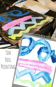 tin foil paint printing for kids u2013 the pinterested parent