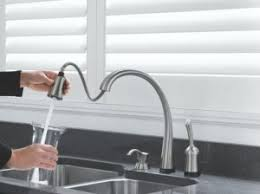 touch technology kitchen faucet clean up with a touch activated faucet