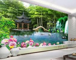 Wallpaper For Bathroom by Online Get Cheap Wall Scenery Wallpaper Forest Aliexpress Com