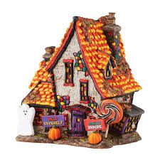 halloween collectables snow village halloween